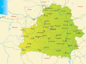 Беларусь, карта
