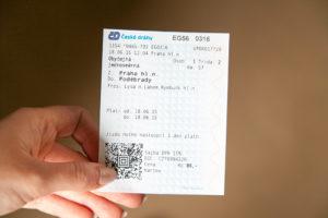Билет на Чешские железные дороги