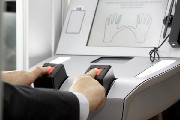 Биометрический загранпаспорт с отпечатками пальцев для ребенка