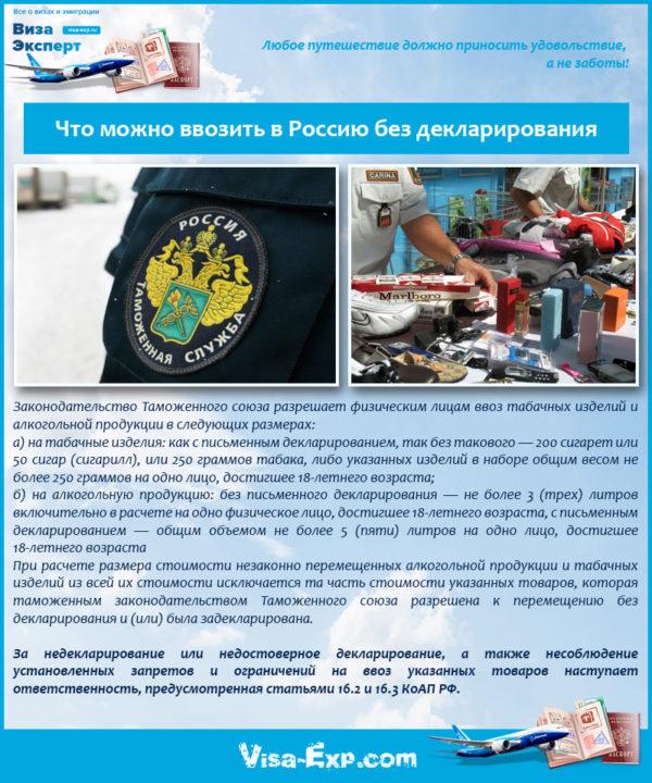 Что можно ввозить в Россию без декларирования