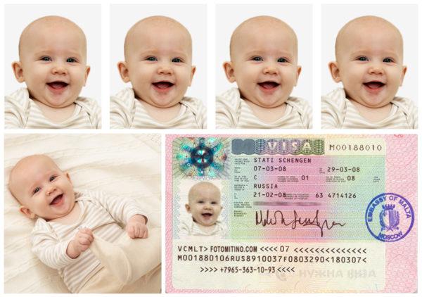 Фото ребенка на визу