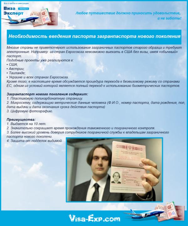 Необходимость введения паспорта загранпаспорта нового поколения