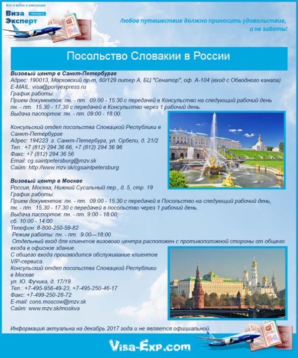 Посольство Словакии в России
