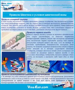 Правила Шенгена и условия шенгенской визы