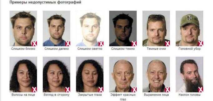 фото на паспорт требования россия 2016