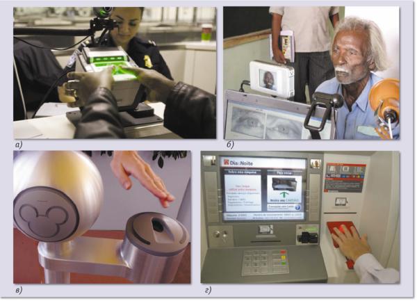 Примеры систем биометрической аутентификации, применяемых в правительственных и коммерческих организациях