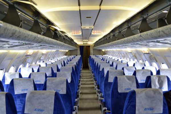 Салон эконом класса в авиакомпании ЮТэйр