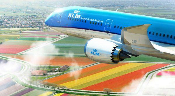 Самолет авиакомпании KLM Royal Dutch Airlines
