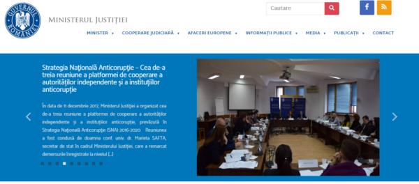 Сайт Министерства Румынии