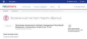 Получение заграничного паспорта гражданином Российской Федерации, гражданину в возрасте до 14 лет