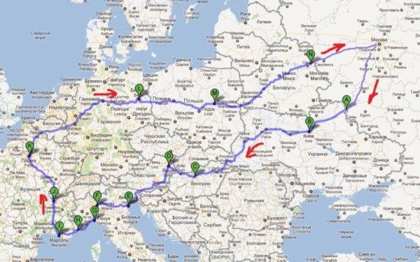 Также вы можете подготовить маршрут путешествия