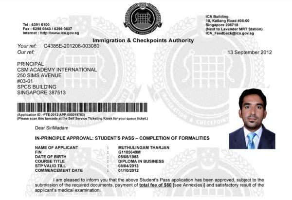 Требования к фото на сингапурскую визу