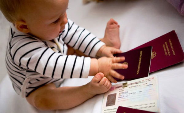 Детский загранпаспорт для новорожденного