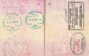В паспорте поставят штамп о пересечении границы