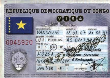 Виза в Республику Конго