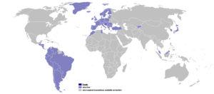 Визовые отношения Хорватии со странами мира