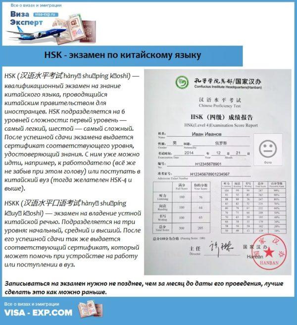 HSK - экзамен по китайскому языку