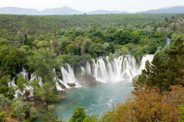 Водопад Кравица на реке Требижат