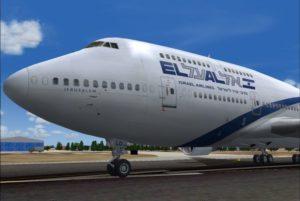 Боинг 747-400 с текстурами Израильской авиакомпании Эль-Аль