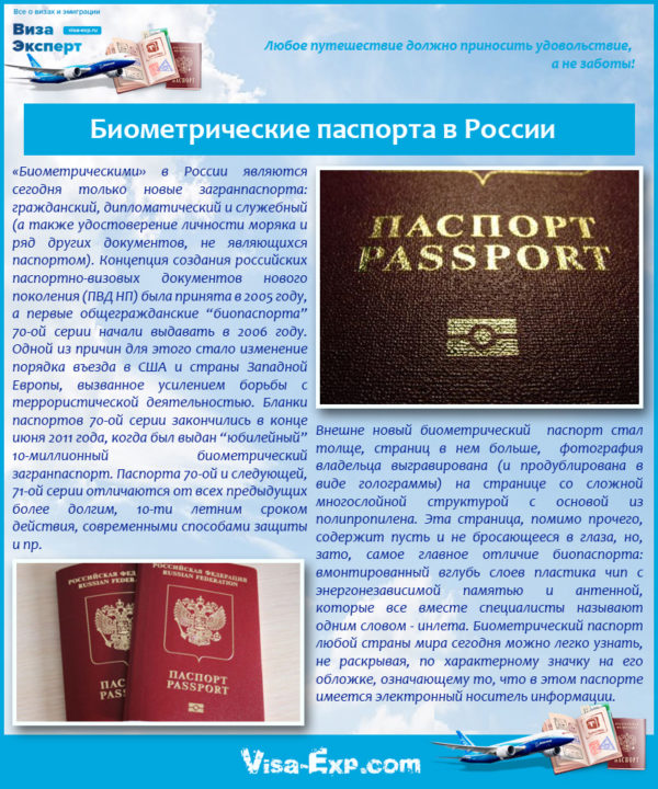 Биометрические паспорта в России