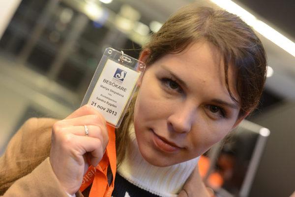 Девушка на стажировке в Швеции