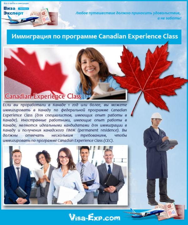 Иммиграция по программе Canadian Experience Class