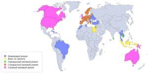 Карта безвизовых стран для россиян