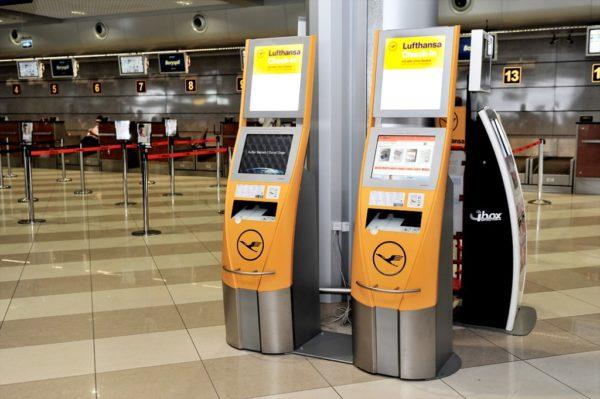 Киоск самостоятельной онлайн регистрации в аэропорту