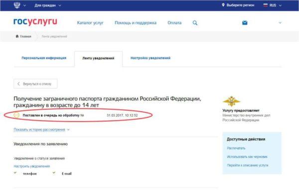 Ваша анкета-заявление попадает на обработку в соответствующие подразделения РФ, а вам остается отслеживать оповещения по электронной почте и на портале