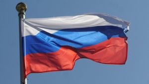 На здании посольства можно увидеть российский флаг