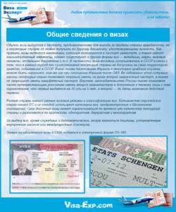Общие сведения о визах