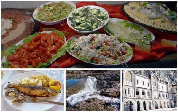 Питание в Черногории