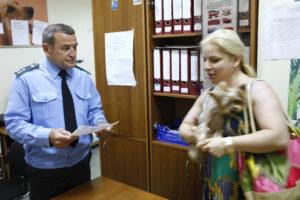 Проведение ветеринарного контроля при вывозе домашних животных в аэропорту