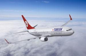 Самолет турецких авиалиний