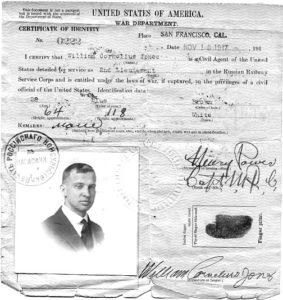 Штамп российского консульства на американском удостоверении личности. 1917 г.