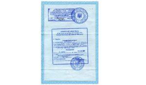 Свидетельство о рождении соискателя гражданства