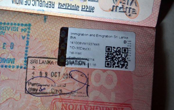 Виза в Шри-Ланку