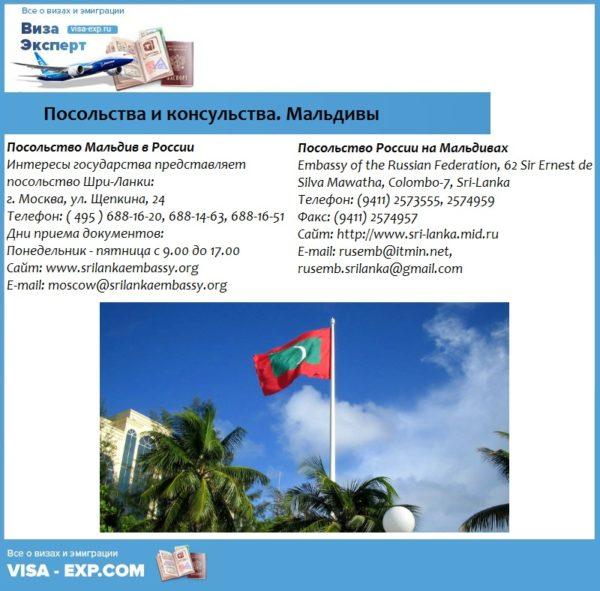 Посольства и консульства. Мальдивы