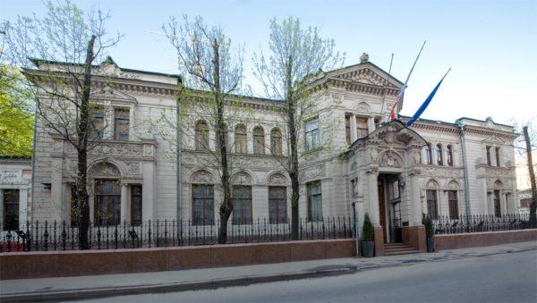 Дом, в котором находится Посольство Италии, имеет богатую историю