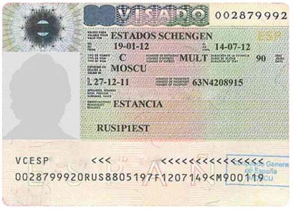 Испанская виза категории С