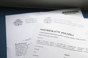 Документы должны быть переведены на чешский язык