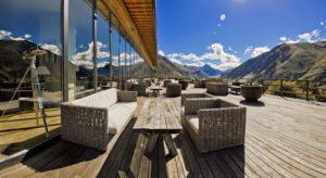 Гостиница в горах Грузии