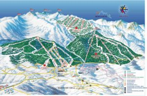 Карта лыжной зоны Боровца