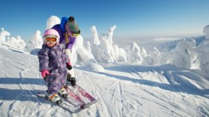 Катание на лыжах на курорте Луосто