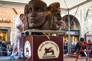 На фестивале «ЕвроШоколад» в Перудже