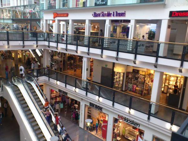 Один из норвежских торговых центров