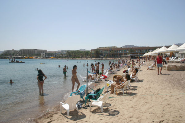 Пляж Эйлат в Израиле