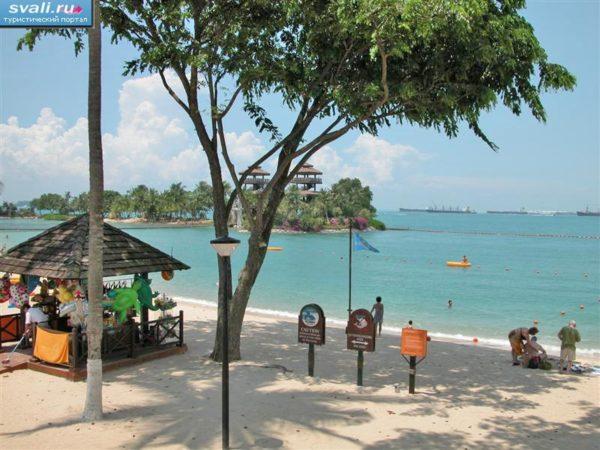 Пляж, остров Сентоза, Сингапур