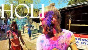 Потрясающий праздник фестиваль красок Холи в Индии