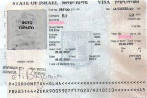 Пример рабочей визы